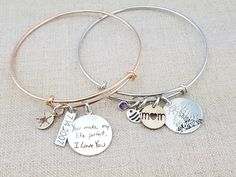 Gift Women Personalized Bracelet Handwriting by emilyjdesign