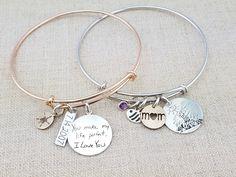Gift Women Personalized Bracelet Handwriting by emilyjdesign