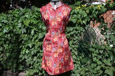 Straight 60's sleeveless dress by WooWhoVintage on Etsy