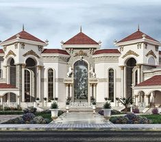 Modern Luxury Kitchens For A Grand Kitchen Classic House Exterior, Classic House Design, Dream House Exterior, Dream House Plans, Dream Home Design, Dream Mansion, Modern Mansion, Luxury Homes Dream Houses, Mansions Homes