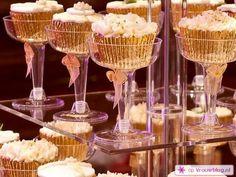 Oud en Nieuw cupcakes in glas