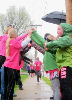 Girls On The Run- cheering on other teammates as they finish the practice 5k!