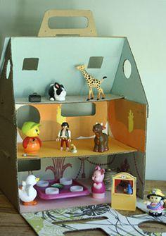 cardboard doll house #cardboard