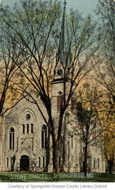 Stone Chapel in Greene County, Missouri. Place Of Worship, Worship God, Springfield Missouri, Sacred Architecture, Old Churches, Cathedral Church, Church Building, Jesus On The Cross, Mosques