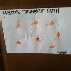 Thumbkin patch- infant room Halloween art