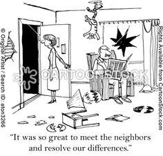 cartoons about neighbors | Conflicting Cartoons and Comics