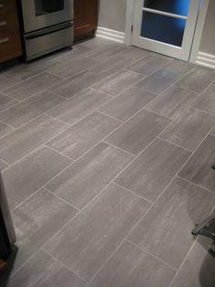 ceramic tile kitchen floors porcelain subway floor toronto tile installation - Kitchen Flooring Installation
