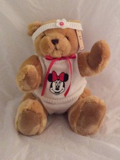 Dressed bear minnie mouse 16 by AnneMargaretdesigns on Etsy