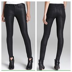 67bb41d8bc8ff MOVING SALE❗️Faux Black Leather Skinny Jeans Brand new