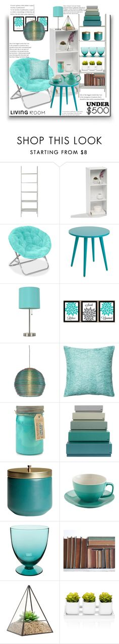 """""""Under 500"""" by marionmeyer ❤ liked on Polyvore featuring interior, interiors, interior design, home, home decor, interior decorating, Room Essentials, ELK Lighting, Loloi Rugs and Paddywax"""