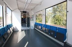 Alstom's performed the first test run of the world's only fuel cell passenger train CoradiaiLint on its own test track in Salzgitter, Germany. Trains, Hydrogen Fuel, Bmw I3, Combustion Engine, London Transport, France, Car Brands, Transportation Design, Electric Cars