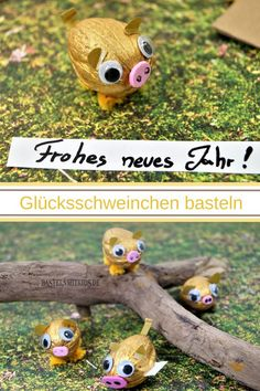 Glücksschweinchen - Easy Crafts for All Valentine Crafts For Kids, Animal Crafts For Kids, Winter Crafts For Kids, Fathers Day Crafts, New Year's Crafts, Diy Crafts To Do, Fish Crafts, Simple Crafts, Clay Crafts