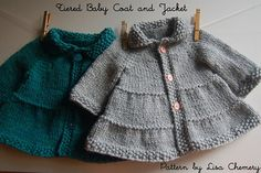 Baby and Toddler Tiered Coat and Jacket by Lisa Chemery (Bulky weight)