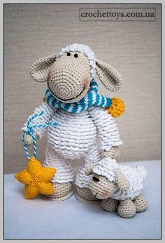 Вязаная игрушка: Овечка - Игрушки ручной работы