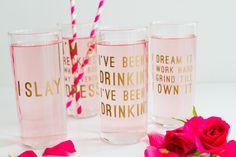 Beyonce Lemonade Lyric Quotes Glasses Cocktails Drinks Hen Party Bachelorette Song Fun Girl Power Queen B DIY Cricut Tutorial Window Cling-7
