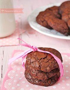 Galletas de chocolate. Hoy os traemos unas galletas de chocolate que no están ricas, están deliciosas. Son unas galletas de chocolate muy fáciles de hacer, tan sólo tenéis que seguir los pasos.