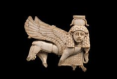 Openwork ivory plaque with striding sphinx- Landmark Metropolitan Museum Exhibition Features Art of First Millennium B.C. from Middle East to Western Europe