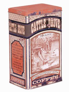Vintage Advertising Cattle Drive Coffee Tin 29871 | Buffalo Trader Online