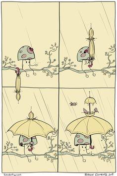 KinokoFry: A Collection of Comics Mushroom Art, Shower, Comics, Mushrooms, Cute, Collection, Rain Shower Heads, Kawaii, Showers