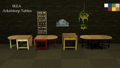 ARKELSTORP TABLES at Leo Sims via Sims 4 Updates