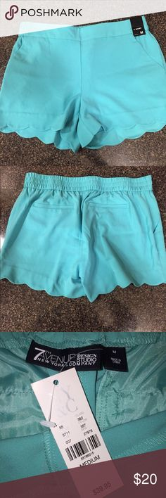 New York & Company Shorts NY & Co. scalloped edge dressy/casual shorts. Brand new, with tags attached. Color: Mint green. New York & Company Shorts