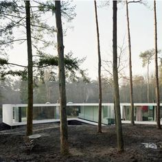 A woodland house in the Veluwe Zoom area near Arnhem in the Netherlands
