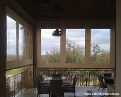 These Clear #Vinyl #OutdoorShades use a Fortress™ Zipper Track System to protect against the elements   North Solar Screen
