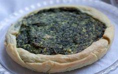 Torta rustica di spinaci, ricotta e porri