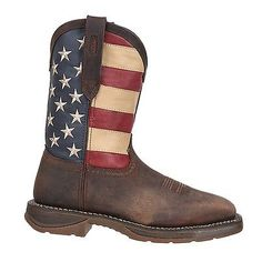 $117.99 for Durango Mens American Flag Square Steel Toe Brown Western Boots DB020