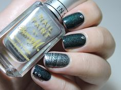 (presque) Nailstorming - Saint George by A England, le Roi des vernis ! - stamping - BP-07 - studs