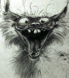 Les monstres de Franquin Plus Cartoon Drawings Of Animals, Cartoon Art, Art Fantaisiste, Art Et Illustration, Illustrations, Art Graphique, Cat Drawing, Drawing Poses, Whimsical Art