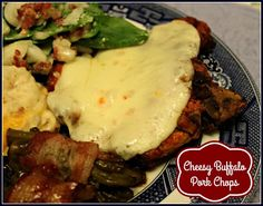 Sweet Tea and Cornbread: Cheesy Buffalo Pork Chops!