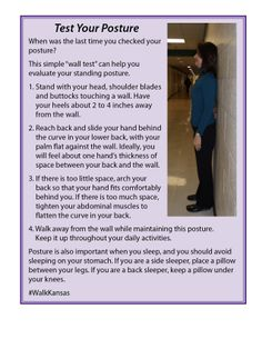 Use these handy tips to check your standing posture. Handy Tips, Helpful Hints, Kansas State University, Dandy, Minions, Improve Yourself, Messages, Health, Fitness