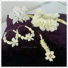 White silk artificial collection 'Sadaf' created by bridal flower jewellery www.bridalflowerjewellery.weebly.com