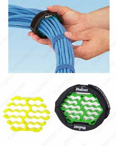 Panduit Cable Bundle Organizing Tool - Cut #cable #bundling project times in half with this straightening tool that straightens up to 24 cables easily. Non-abrasive design is ideal for bend-sensitive #fiberoptics and other #network cables. Learn more at CableOrganizer.com: