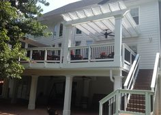 Screened Porch Addition With Pull-down Windows To Keep Out Pollen