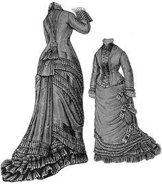 1876 Silk & Russian Cloth Dress Pattern