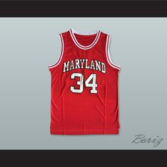 f4d180537930 Len Bias 34 Maryland Red Basketball Jersey. STITCH SEWN GRAPHICS CUSTOM  BACK NAME CUSTOM BACK