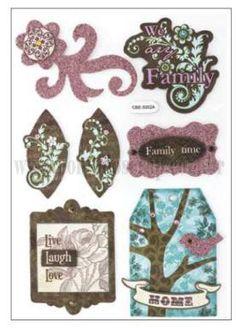 Adesivos Decorativos Vintage - Família 01