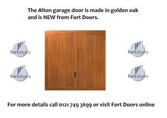 Sneak preview of the new Alton Golden Oak garage door available from Fort Doors in November 2015 ... For more details call us on 0121 749 3699.