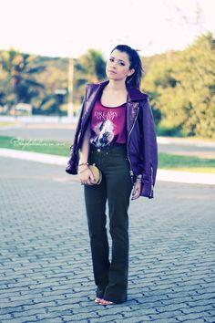 Blog da Lê-Moda Acessível: Flare pants + Bordô