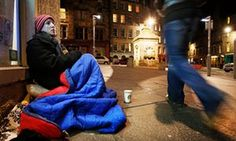 up on the streets'.  After James Beavis told his story of sleeping rough in London for a month to raise money for Crisis, our readers shared their thoughts – and personal experiences – about homelessness in the UK