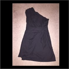 BCBGgeneration one shoulder black dress NEVER WORN!! I bought this and then I totally forgot about it. It's a beautiful little black dress, classy and sexy. It's flawless ❤️❤️ make me an offer, i will negotiate  BCBGeneration Dresses Mini