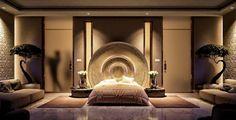 dormitorio con diseño asiatico