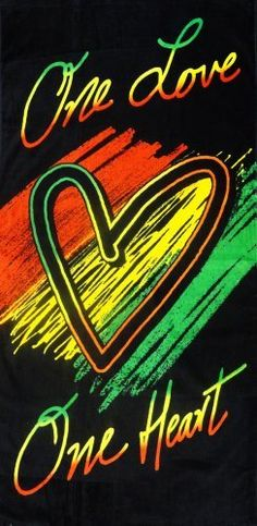 "One Heart Rasta Beach & Bath Towel (30"" x 60"") #21 by BeWild, http://www.amazon.com/dp/B00BR09W88/ref=cm_sw_r_pi_dp_CTSFrb1E9NWTX"