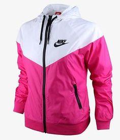Nike WindRunner Women's Jacket Windbreaker Hoodie Pink White 545909-612