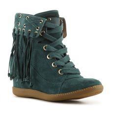 Madison Harding Ronald Wedge Sneaker ($195) ❤ liked on Polyvore