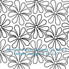 Digital Quilting Design Daisy Doodles by Apricot Moon. Quilting Stencils, Quilting Templates, Longarm Quilting, Free Motion Quilting, Quilting Ideas, Machine Quilting Patterns, Quilt Patterns Free, Graphic Patterns, Bubble Quilt