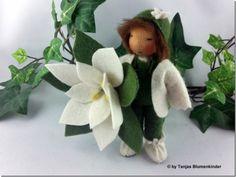 Jahreszeitentisch - Weihnachtsstern weiß Blumenkind Jahreszeitentisch - ein Designerstück von Tanjas-Blumenkinder bei DaWanda