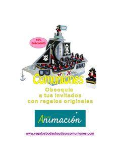 Expositor barco pirata para Primeras Comuniones, Compra online de regalos para invitados
